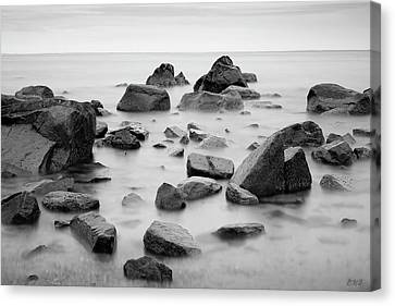 Canvas Print featuring the photograph Allens Pond Xiv Bw by David Gordon