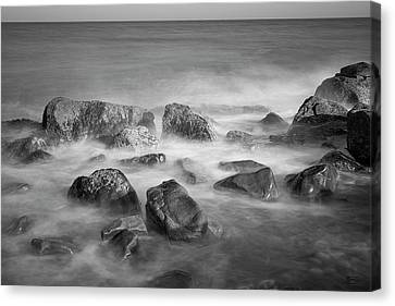 Canvas Print featuring the photograph Allens Pond Xix Bw by David Gordon
