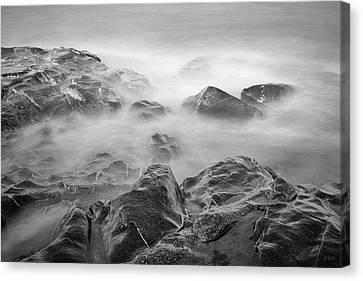 Canvas Print featuring the photograph Allens Pond Xvi Bw by David Gordon