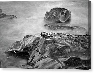Canvas Print featuring the photograph Allens Pond Xvii Bw by David Gordon