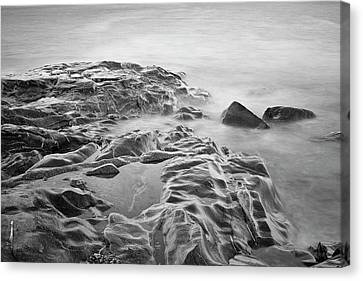 Canvas Print featuring the photograph Allens Pond Xviii Bw by David Gordon
