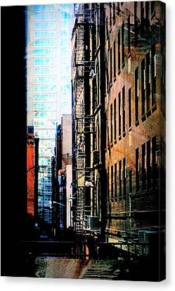 Fire Escape Canvas Print - Alley Abstract #2 by Anita Burgermeister