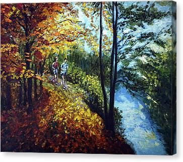 Alley By The Lake 1 Canvas Print