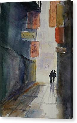 Alley In Chinatown Canvas Print by Tom Simmons