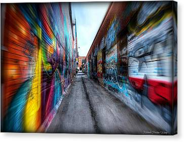 Alley Canvas Print by Michaela Preston