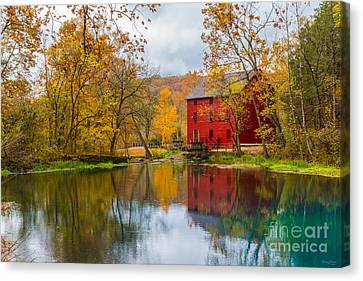 Alley Mill And Spring Canvas Print by Jennifer White