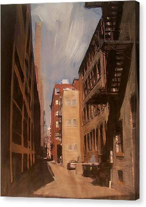Alley Series 1 Canvas Print by Anita Burgermeister