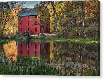 Alley Spring Mill Fall Mo Dsc09240 Canvas Print