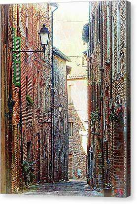 Alley View 2 Citta Della Pieve Umbria Canvas Print by Dorothy Berry-Lound