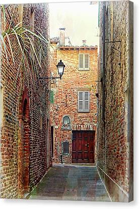 Alley View 3 Citta Della Pieve Umbria Canvas Print by Dorothy Berry-Lound