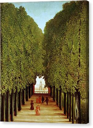Alleyway In The Park Canvas Print