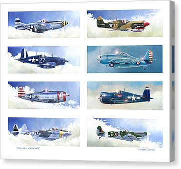Allied Fighters Of The Second World War Canvas Print