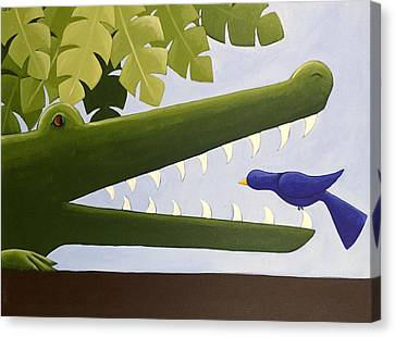 Kids Room Art Canvas Print - Alligator Nursery Art by Christy Beckwith
