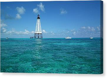 Alligator Reef Lighthouse Canvas Print by Tammy Chesney