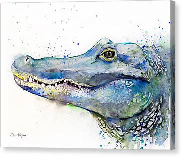 Alligator Canvas Print - Alligator  by Slavi Aladjova
