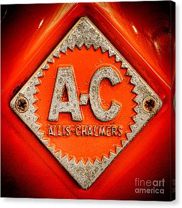 Allis Chalmers Badge Canvas Print by Olivier Le Queinec