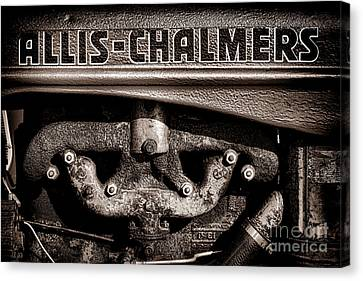 Allis Chalmers Grunge Canvas Print by Olivier Le Queinec