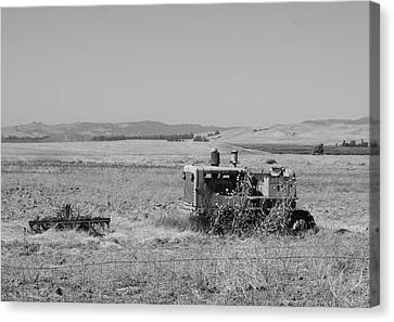 Allis-chalmers Tractor Canvas Print by Troy Montemayor