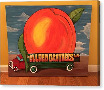 Eat Canvas Print - Allman Brothers Eat A Peach by Wes Beaver
