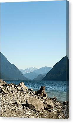 Allouette Lake Canvas Print by Emilio Lovisa