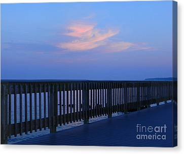 Canvas Print featuring the photograph Alls Quiet On The Beach Front by Emmy Marie Vickers