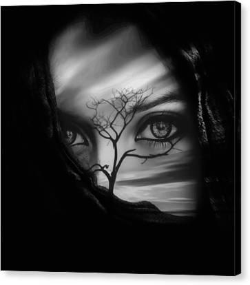 Allure Of Arabia Black Canvas Print