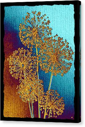 Abstraction Canvas Print - Alluring Allium Abstract 2 by Will Borden