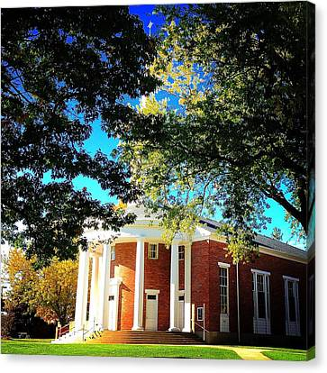 Alma College Dunning Memorial Chapel Canvas Print by Chris Brown