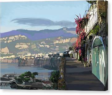 Almalfi Coast Canvas Print by Brad Burns