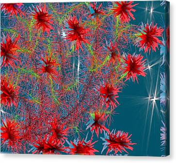 Canvas Print featuring the digital art Almog-corall Tree by Dr Loifer Vladimir
