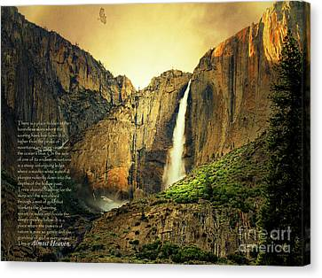 Almost Heaven 7d6129 V2 With Text Canvas Print by Wingsdomain Art and Photography