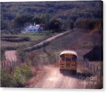 School Bus Canvas Print - Almost Home by Garry McMichael