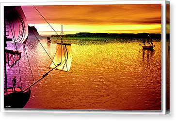 Boat Canvas Print - Almost Home by Tyler Robbins