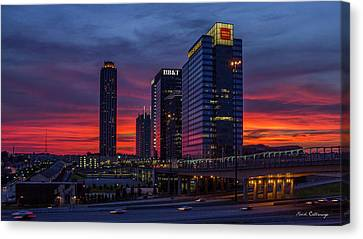 Almost Night Atlanta Midtown Cityscape Art Canvas Print