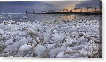 Almost Spring In Grand Haven Canvas Print by Twenty Two North Photography