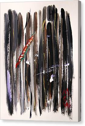 Canvas Print featuring the painting Almost Vertical by Mary Carol Williams
