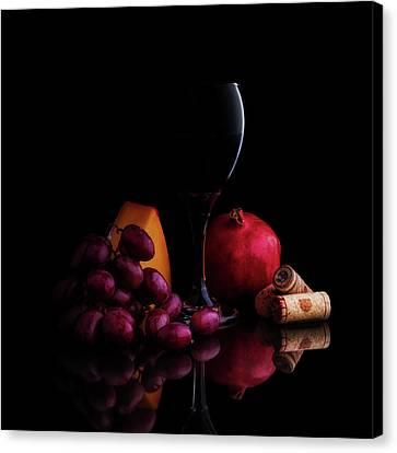Wine Glass Canvas Print - Almost Wine by Tom Mc Nemar