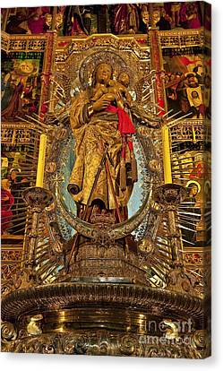 Christian Sacred Canvas Print - Almudena Cathedral Alter by John Greim