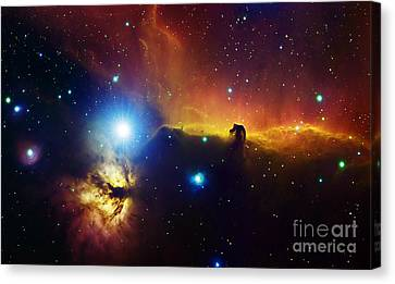 Alnitak Region In Orion Flame Nebula Canvas Print by Filipe Alves