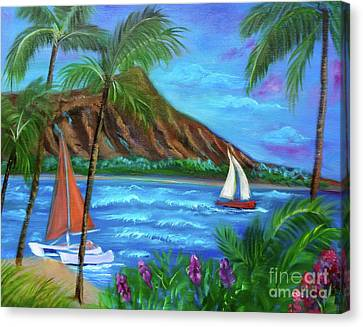 Aloha Diamond Head Canvas Print