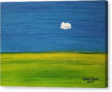 Canvas Print featuring the painting Alone And Fine by Judith Rhue