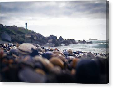 Canvas Print featuring the photograph Alone by April Reppucci