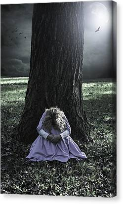 Alone At Night Canvas Print