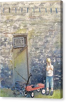 Alone Canvas Print by Gale Cochran-Smith