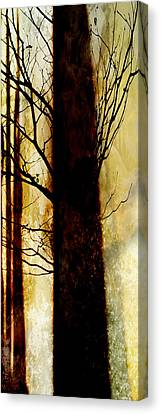 Canvas Print featuring the digital art Alone I Stand by Ken Walker