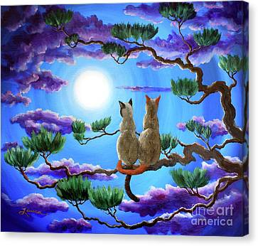 Alone In The Treetops Canvas Print by Laura Iverson