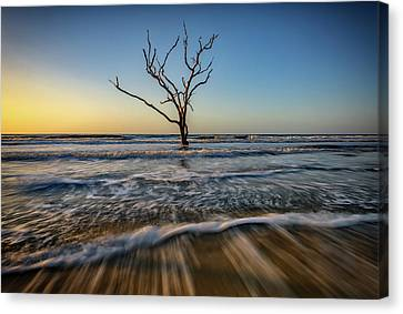 Canvas Print featuring the photograph Alone In The Water by Rick Berk