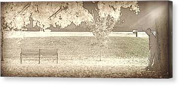 Alone Canvas Print by Jim Cook