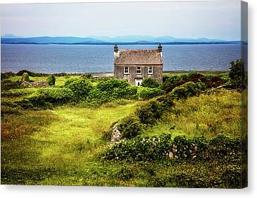 Alone On The Aran Islands Canvas Print by Debra and Dave Vanderlaan