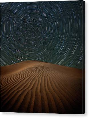 Canvas Print featuring the photograph Alone On The Dunes by Darren White